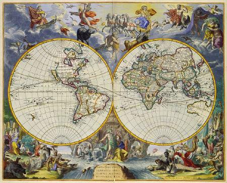 Mappemonde 1683