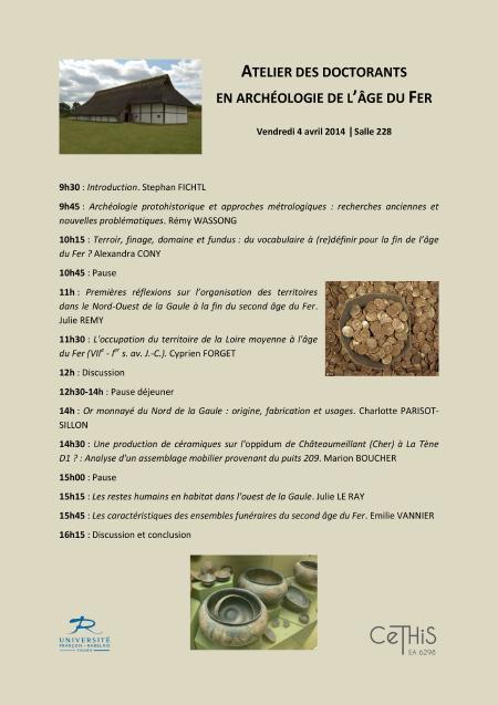 affiche Atelier doctorants en archéologie