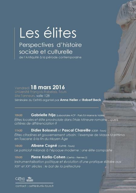 affiche séminaire Elites