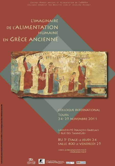 affiche colloque Imaginaire de l'alimentation humaine dans le Grèce ancienne