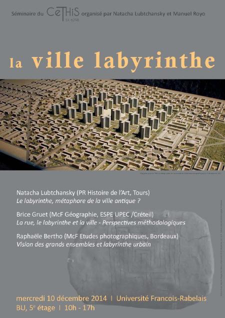 affiche JE La ville labyrinthe