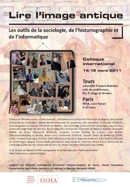 Affiche colloque Lire l'image antique