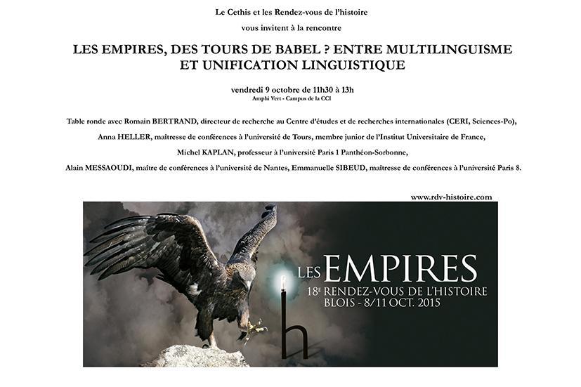 RDVH Blois 2015 - Les Empires