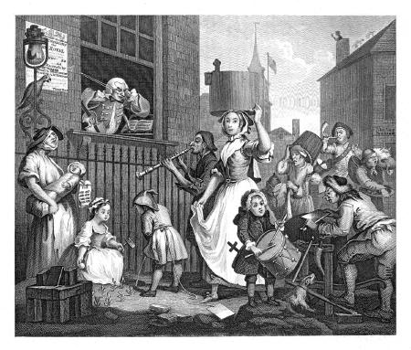 Enraged musician - William Hogarth 1741