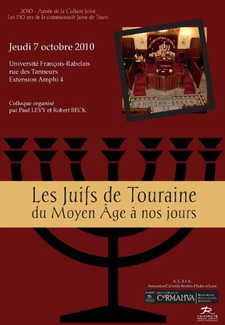 affiche colloque Juifs de Touraine 2010