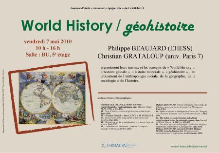 affiche séminaire World History