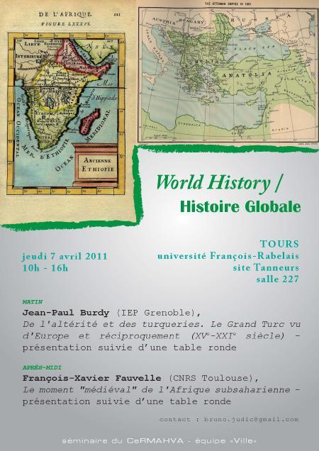affiche World History 7 avril 2011